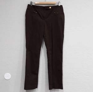 Talbots Signature Stretch Ankle Pant Brown sz 8